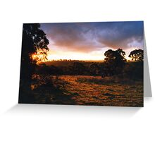Hill End Sunset - NSW Greeting Card