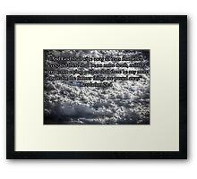 HDR Clouds-Powerful Framed Print