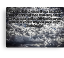 HDR Clouds-Powerful Canvas Print