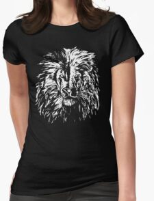 Lion white only Womens Fitted T-Shirt