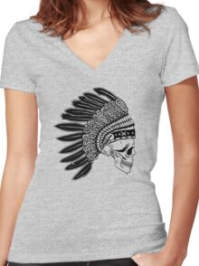 Crying Chieftain Women's Fitted V-Neck T-Shirt