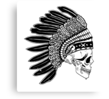 Crying Chieftain Canvas Print