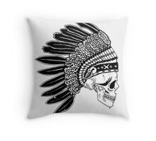 Crying Chieftain Throw Pillow