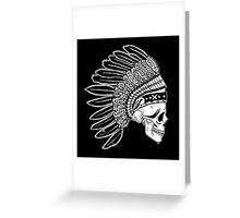 Crying Chieftain Greeting Card