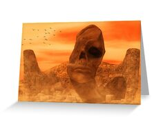 Ancient Sculpture - The Sacred Head of Rasmedes Greeting Card