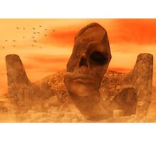 Ancient Sculpture - The Sacred Head of Rasmedes Photographic Print