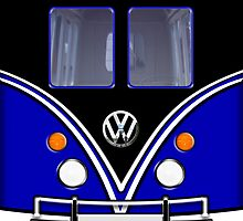 iPhone case - Blue Mini Van Volkswagen - Apple iPhone case by beecase