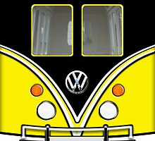 Apple iPad Case - Yellow Mini Van Volkswagen by beecase
