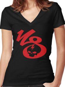 KrakkdSkullz - KS Logo - Red Women's Fitted V-Neck T-Shirt