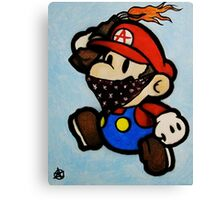 Anarchist Mario Canvas Print