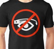 Ban sign (white) Unisex T-Shirt