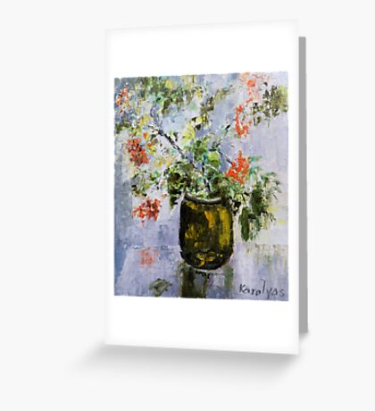 Mountain-ash in a vase Greeting Card