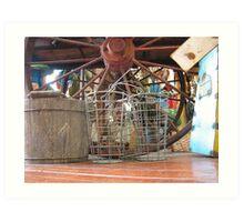 Wire Baskets Art Print