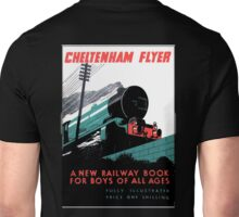 RAILWAYANA, RAILWAY, Steam, Cheltenham Flyer, GWR, 'book for boys of all ages'. Unisex T-Shirt