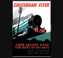 RAILWAY, Steam, Cheltenham Flyer, GWR, 'book for boys of all ages'. T-Shirt