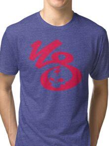 KrakkdSkullz - KS Logo - Neon Red Tri-blend T-Shirt