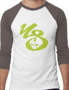 KrakkdSkullz - KS Logo - Chartreuse Men's Baseball ¾ T-Shirt