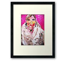 GIRL IN A WHITE FUR  Framed Print