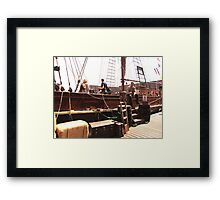 TALL SHIP IN LIVERPOOL Framed Print