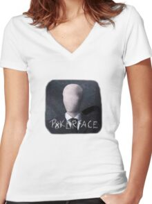Perfect poker face Women's Fitted V-Neck T-Shirt