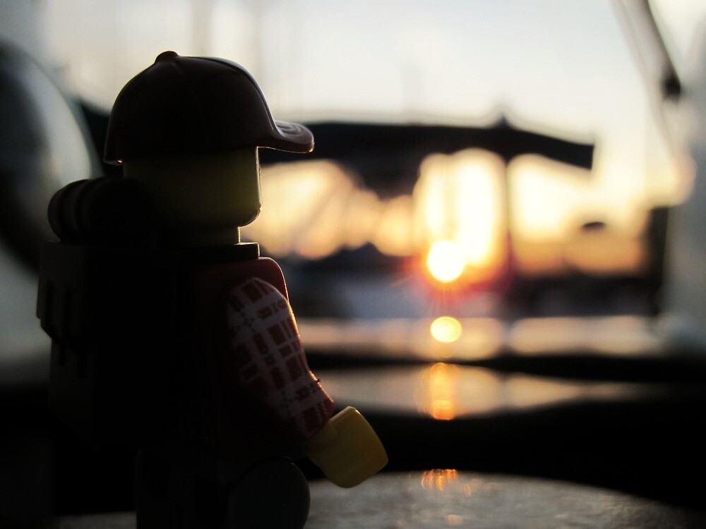 Jerry at sunset by bricksailboat