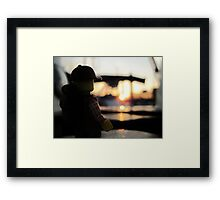 Jerry at sunset Framed Print
