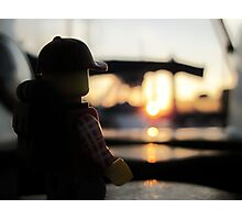 Jerry at sunset Photographic Print