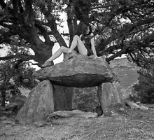 A Dolmen pose. by Dave Hare
