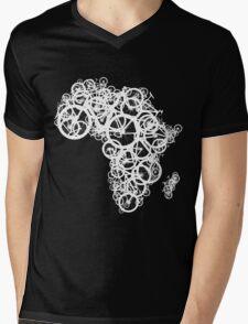 Africa T - (Black) Mens V-Neck T-Shirt