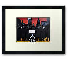 Panic on the streets of london Framed Print