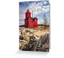 Holland Lighthouse Greeting Card