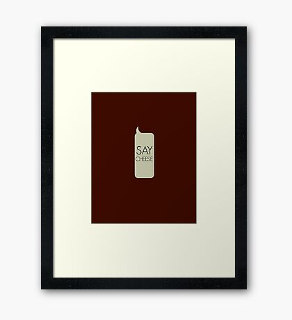 Say Cheese (Red) Framed Print