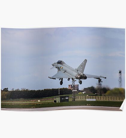 Typhoon Landing At Coningsby Poster