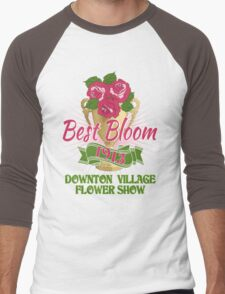 Downton Abbey Inspired - Downton Village Flower Show - Best Bloom - Grantham Cup Trophy Men's Baseball ¾ T-Shirt