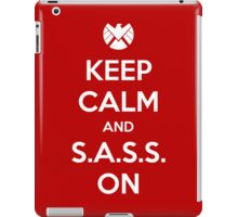 Keep Calm and S.A.S.S. On - Poster iPad Case/Skin