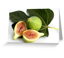 Green Fig Greeting Card