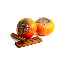 Persimmon Cinnamon Photographic Print