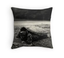 Baby Snapping Turtle Throw Pillow