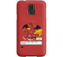 The Fire Type Samsung Galaxy Case/Skin