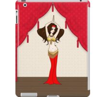 Cute Brunette Bellydancer in Red Costume iPad Case/Skin