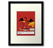 The Fire Type Framed Print