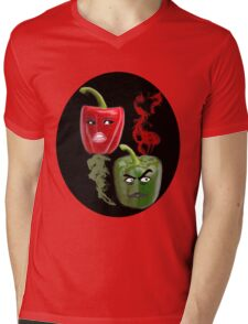(✿◠‿◠) BELL PEPPERS WITH AN ATTITUDE TEE SHIRT (✿◠‿◠) Mens V-Neck T-Shirt