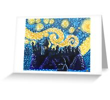Dr Who Hogwarts Starry Night Greeting Card