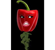 BELL PEPPER WITH AN ATTITUDE IPHONE CASE by ✿✿ Bonita ✿✿ ђєℓℓσ