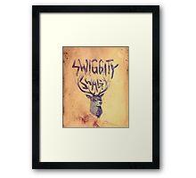 SWIGGITY SWAG I'M A STAG Framed Print