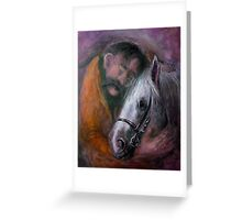 Friedrich and the horse Greeting Card