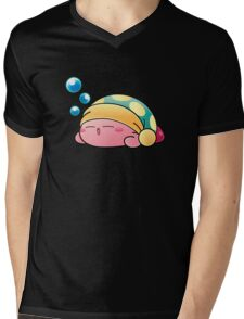 Sleeping Kirby Mens V-Neck T-Shirt