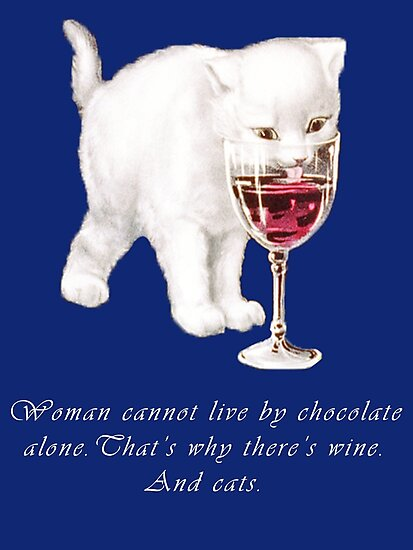 Chocolate Wine and Cats Facts of Life by simpsonvisuals