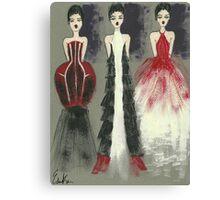 Gown Trio Canvas Print