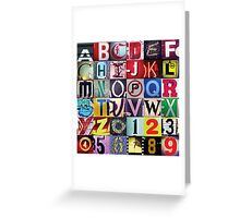Instagram Alphabet Collection #1 Greeting Card